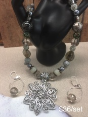 Necklace and Earrings Sets (w/pendants) $36 each