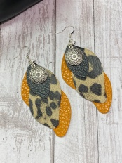 Faux Leather Earrings - $15