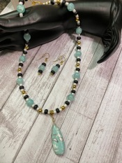 Necklace & Earrings Set - $36